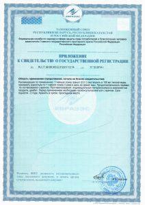Климатон, Свидетельство о гос. регистрации, Приложение